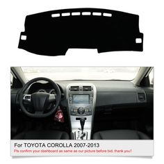 Auto rear bumper protector trim interior and exterior for toyota awesome awesome dashmat dashboard cover for toyota corolla 2007 2008 2009 2010 2011 2012 2013 2018 fandeluxe Choice Image