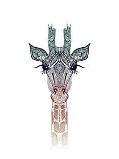 Tribal giraffe print