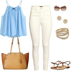 Casual Summer by jpschwartz on Polyvore featuring H&M, Jessica Simpson and Rebecca Minkoff