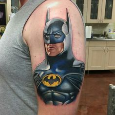 Tattoo done by: David Corden #michaelkeaton #batman #batmantattoo