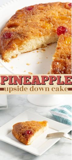 Grandma's recipe for pineapple upside down cake made in a cast iron skillet! The best way to make this delicious cake! #pineappleupsidedowncake #upsidedowncake #pineapplecake #pineapple #castironskillet #dessert #onepandessert #pineapple #summerdessert #potluck #amandascookin