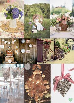 Wicker Wedding Decor Ideas Mood Board from The Wedding Community
