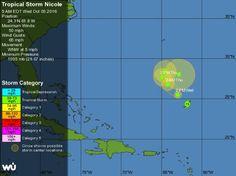 Nicole, la decimocuarta tormenta tropical que se forma en el Atlántico - http://www.meteorologiaenred.com/nicole-la-decimocuarta-tormenta-tropical-que-se-forma-atlantico.html
