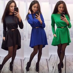 And the wind big aliexpress explosion of solid loose dress pocket code does not contain irregular large swing dress without belt #Affiliate