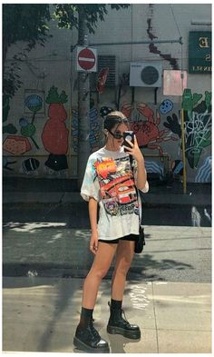 Hipster Fashion Style, Hipster Outfits, Indie Outfits, Tomboy Fashion, Edgy Outfits, Retro Outfits, Cute Casual Outfits, Look Fashion, Streetwear Fashion