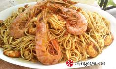 The Kitchen Food Network, Food Network Recipes, Spaghetti, Food And Drink, Pasta, Fish, Cooking, Ethnic Recipes, Kitchens