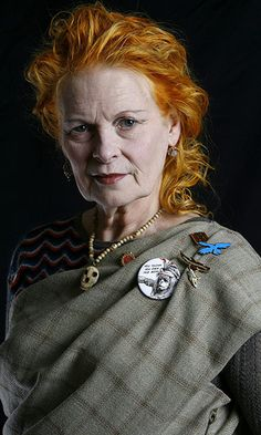 Dame Vivienne Westwood, here photographed in her studio in London in 2007, she is an amazing Crone.