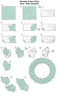Paper leaves, origami wreath #wreath from leaves