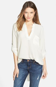 Ivory Roll Tab Blouse