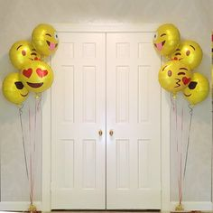 Amazon.com: Kuuqa Reusable Emoji Mylar Party Balloons Emoji Balloons Emoji Party Supplies, 16 Piece: Toys & Games