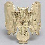 Gold Burnished Owl Cuff Bracelet