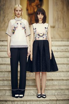 Two ways to wear Erdem: Power trousers or balloon skirt.