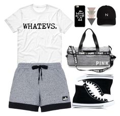 """Untitled #1917"" by anarita11 ❤ liked on Polyvore featuring adidas, Converse and New Black"