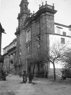 S d Compostela - 1912 ( Universidad e Iglesias de los Jesuitas)  Foto de Vidal, Lluís Marià, 1842-1922.