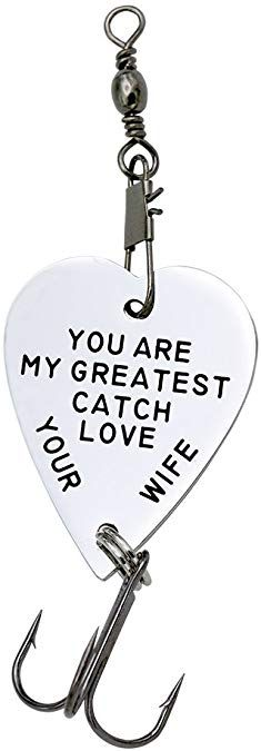 Melix Home You are My Greatest Catch Love Your Wife Fishing Hooked (White) Christmas Gifts For Boyfriend, Boyfriend Gifts, Fishing Engagement, O Fish, Love Your Wife, Fisherman Gifts, Stencil Patterns, Fish Hook, Gifts For Husband