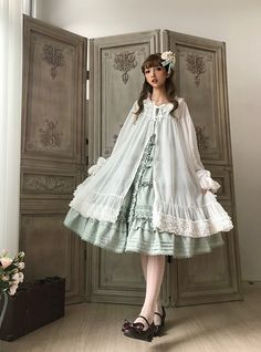 Little Dipper -Classic Mary- Vintage Classic Lolita Long Sleeves Outlayer Dress