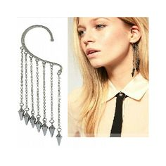 Rivet Hanging Earcuff (more colors available)  $10