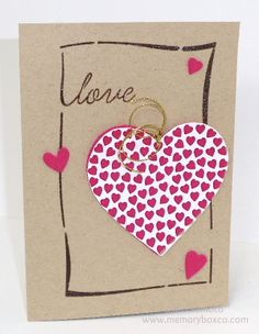 Memory Box stencil- Love Designer Stencil 88511 Memory Box dies- Cupid Heart Die 98281,  Heart of Hearts Die 98781, Hearts and Stars Die 98755