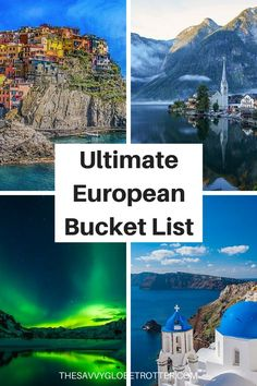 The Ultimate Europe Bucket List: Epic Things to Do in Europe ******** Europe Bucket List Places to Visit In Europe Bucket List Ideas Europe Travel Destinations Beautiful Places Europe Travel Places Bucket Lists Europe Bucket List Challenge Backpacking Europe, Europe Travel Guide, Travel List, Europe Europe, Europe Places, Europe Budget, Budget Travel, Travel Deals, Travel Packing