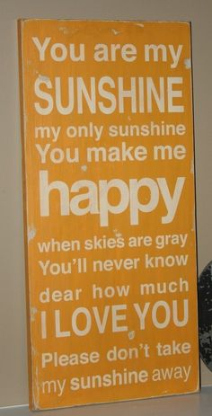 Would like to put this in the playroom...used to sing it to the boys all the time.  :)