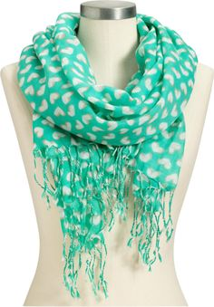 Teal heart scarf <3