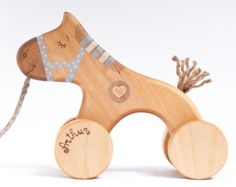 Wooden Toy Push Goose Personalized Wooden Toy by FriendlyToys