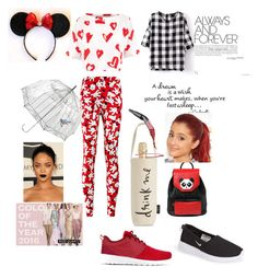 """""""Red"""" by amandha88 on Polyvore featuring Kate Spade, Menu, NIKE, Les Petits Joueurs, Disney, Être Cécile, Lulu Guinness, women's clothing, women's fashion and women"""