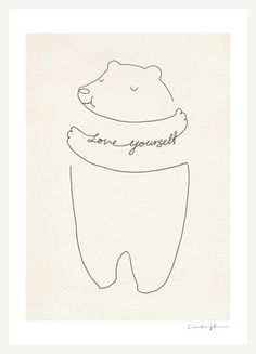 Love Yourself – ilovedoodle. So sweet and simple :)