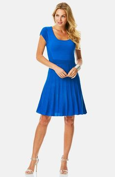 Laundry by Shelli Segal Mixed Knit Fit & Flare Sweater Dress available at #Nordstrom