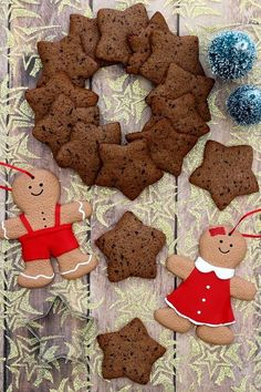 Christmas biscuits with chocolate and cinnamon - Miam