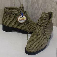 Купить или заказать Вязанные ботиночки'Комфорт в ажуре '. в интернет-магазине на Ярмарке Мастеров. Уютные, комфортные ботиночки из хлопка подойдут к любой одежде. Ножки в них дышат и отдыхают.