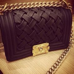Chanel woven leather bag. Yes please.