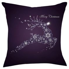 Personalized christmas decorative pillows for couch Reindeer Pillow