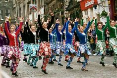 Massed ranks of the Scottish Board of Highland Dancing