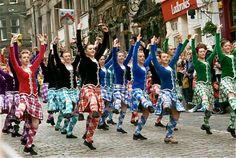 Scottish highland dancing.
