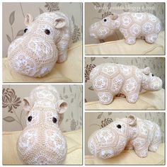 Best 12 Ravelry: Project Gallery for Happypotamus The Happy Hippo Crochet Pattern pattern by Heidi Bears Crochet Motif, Crochet Yarn, Crochet Flowers, Crochet Toys, Crochet Patterns, Yarn Crafts, Diy And Crafts, Crochet Taxidermy, African Flower Crochet Animals