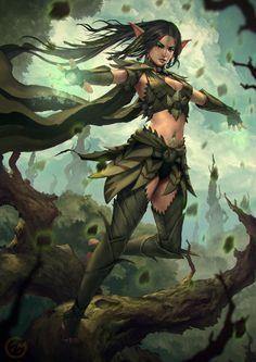 f High Elf Druid Leather forest hills community ArtStation - Mona, The Forest Templar, Nick Gan Fantasy Races, Fantasy Warrior, Fantasy Rpg, Fantasy Artwork, 3d Artwork, Dungeons And Dragons Characters, Dnd Characters, Fantasy Characters, Female Characters
