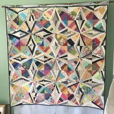 Spider web quilt using pattern by Bonnie Hunter