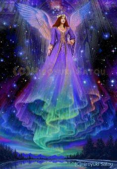 Angels Angel by Hiroyuki Satou I Believe In Angels, Angel Pictures, Angels Among Us, Beautiful Fairies, Angels In Heaven, Guardian Angels, Art Graphique, Angel Art, Fairy Art