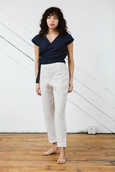 ee6d8d1ba0b Solana Slim Pants in Linen