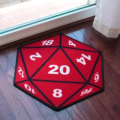 From Thinkgeek: Put out this Critical Hit D20 Doormat to forewarn visitors that if they bust open the door they might experience a Random Encounter. In a