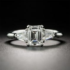 14K White Gold 1CT Lab Grown Diamond Engagement Wedding Ring     FREE Shipping Worldwide     http://fashjewels.de/lasamero-emerald-cut-1-ct-esdomera-moissanites-14k-white-gold-antique-three-stone-lab-grown-diamond-engagement-wedding-ring/