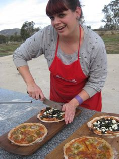 Woodfired pizzas at Bress #cider #food #biodynamic #Harcourt #Melbourne #seeAustralia