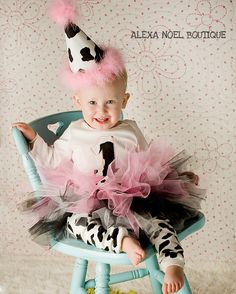 Lil'+cow+birthday+outfit+Girls+first+birthday+by+AlexaNoelBoutique,+$60.00
