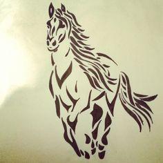 Arte Tribal - Cavalo (Matheus Candeloro)
