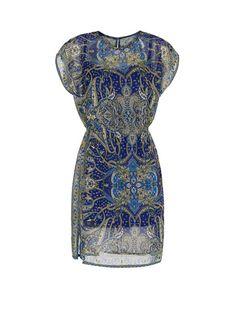 MANGO - Vestido estampado paisley gasa
