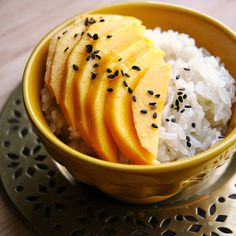 Manila Mangoes & Coconut Sticky Rice! A Thai classic that's perfect for takeout-fakeout nights!