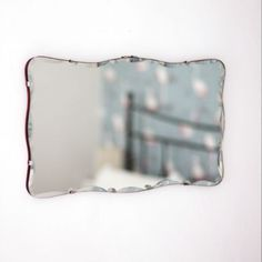 Vintage Frameless Mirror   The Other Duckling