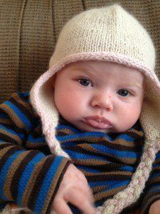 Bunny Hugs Baby Hat | AllFreeKnitting.com