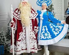 Cat Fursuit, The Mask Costume, Ded Moroz, Santa Costume, Red Fur, Santa Suits, New Year Celebration, White Fur, Father Christmas